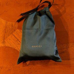 Gucci Tiger Head Gourmette Silver Bracelet